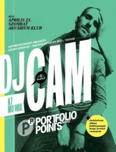 DJ CAM a PortfolioPoints 2012 színpadán