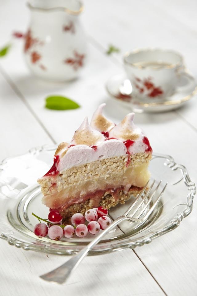 Magyarország cukormentes tortája 2013: Ribizlihabos-almás réteges